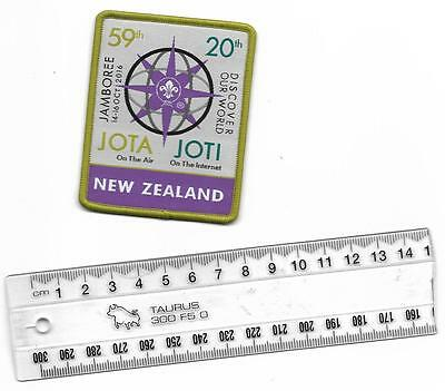 Jota / Joti scout badge - patch from New Zealand [and Girl Guide-Girl Scout]