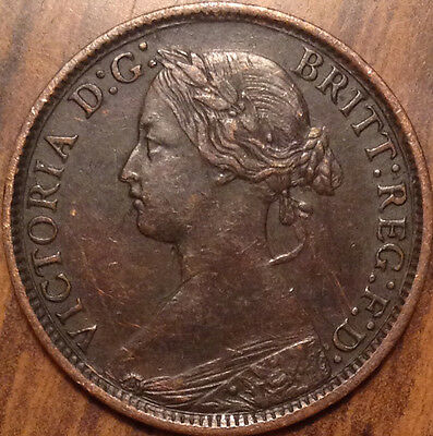 1862 Uk Great Britain Farthing Magnificent Example