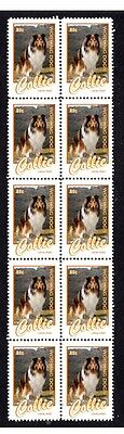 Collie Working Dog Strip Of 10 Mint Stamps #7
