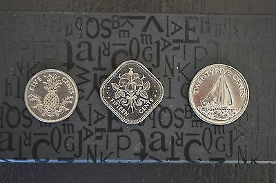 Bahamas Lot De 3 Pieces Annee 2005 / Set Of 3 Coins Year 2005
