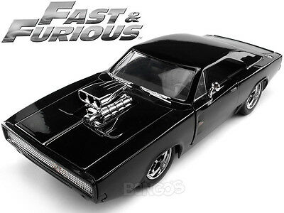 Fast & Furious - Dom's 1970 Dodge Charger R/T 1:24 Scale Diecast Model (Gloss)
