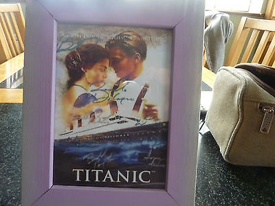 Titanic signed picture print framed 7 x 5