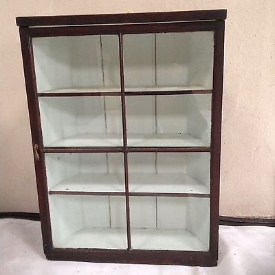 Antique Wall Shop Display or Corner Cabinet
