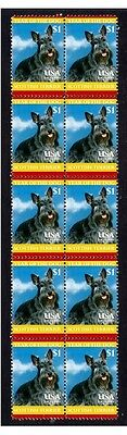Scottish Terrier Strip Of 10 Mint Year Of Dog Stamps 4