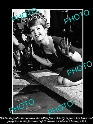Old Large Historic Photo Of Debbie Reynolds Honored At Graumens Theater 1965