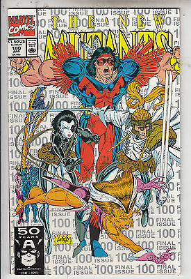 NEW MUTANTS #100  VF/VF+   APRIL VERY CLEAN WHITE SILVER  LETTERS  2nd PRINT