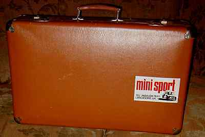Vintage Suitcase Hard Case Metal Handle Hinges & Corners Mid Century FAB Retro