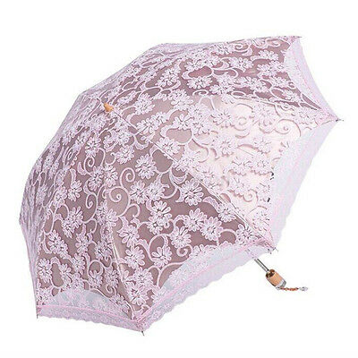 New Lady Vintage Handmade Fashion Parasol Lace Sun Umbrella Bridal Wedding Party