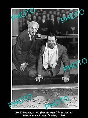 Old Large Historic Photo Of Joe E Brown Being Honored At Graumans Theater 1936