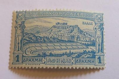 Greece 1896 Olympic Games 1D blue unused