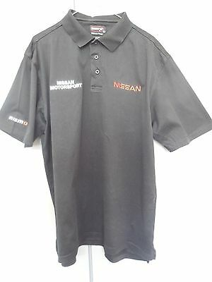 Nissan Motorsport black polo Shirt size M