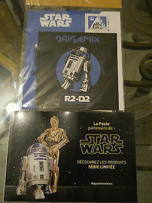"Origami Star Wars ,enveloppe Pre-Timbree Origami R2-D2   ""serie Edition Limitee"""