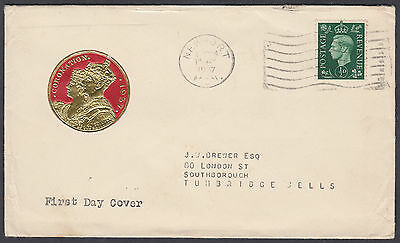 1937 KGVI 1/2d green Definitive Illustrated FDC; Newport / Mon M/C