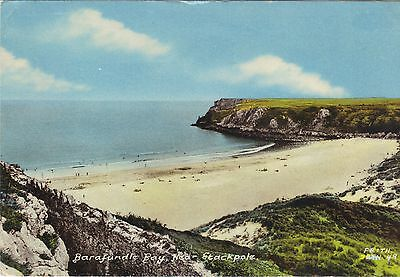 One Old Postcard Of Barafundle Bay Stackpole