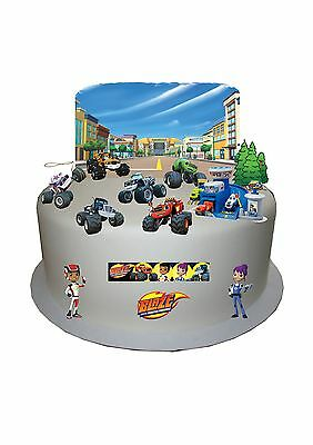 Blaze & The Monster Machines Stand Up Cake Scene Edible Wafer Paper Cake Topper