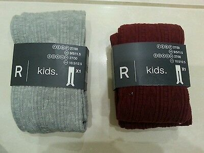 BNWT VERBAUDET pack of 2 girls Tighs size 9.5-11.5
