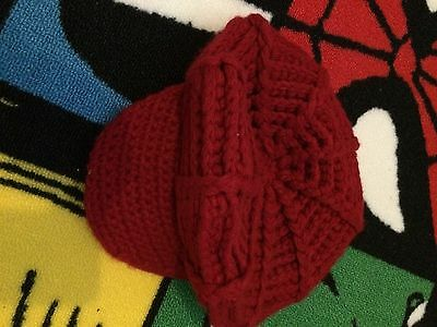 Ladies Red Hat Size Small Winter Warm Woolen Knitted