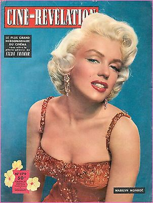 1957 vintage MARILYN MONROE cover CINÉ RÉVÉLATION amazing RARE from FRENCH !!
