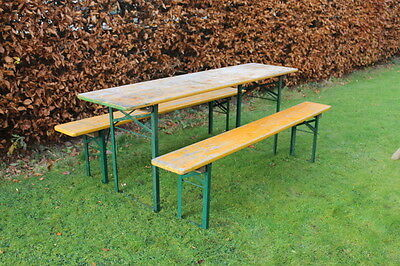 Vintage Retro Beer garden kitchen table and bench set