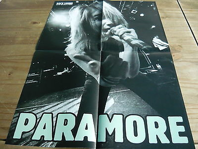 Paramore - Large Fold-Out Magazine Poster (Ref D2)