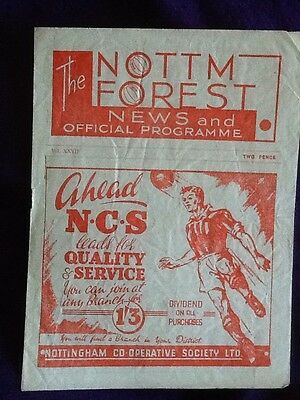 1947/48 Nottingham Forest V Coventry City - Division 2 - 01/11/1947