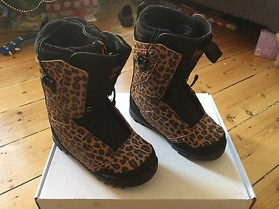Thirtytwo Lashed FT Women's Snowboard Boots UK5 Leopard Print