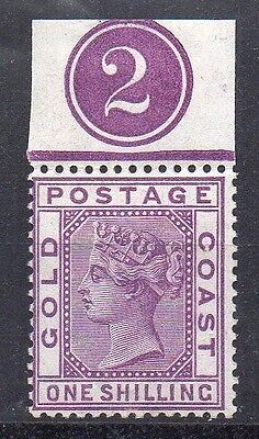 Gold Coast SG18 mint stamp with control number 2