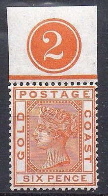 Gold Coast SG17 mint stamp with control number 2