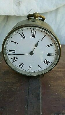 antique brass drum clock/ restoration