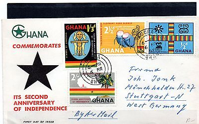 Ghana, 4 FDCs, UN day, Europa, Independence