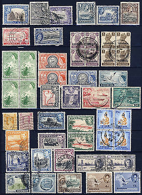 British Colonies Collection 164 Stamps With Many Interesting Items