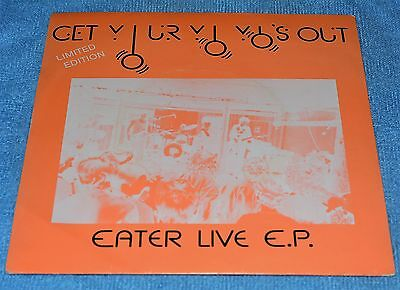 """Eater Get Your Yo's Yo's Out EP (White 7"""" Vinyl) -The Label-TLR 007-UK-Ex/Ex Ltd"""