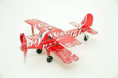 Recycled Tin Can Model: Coke Bi-plane (and more cans) - fairly traded