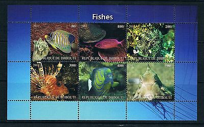 Bloc Sheet poissons Fish Neuf MNH ** Djibouti 2011 Private local/issue