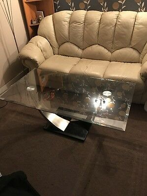 Stylish glass Crest Coffee Table In Mint Condition
