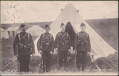 21st Middlesex Regiment At Rottingdean, Brighton. Mezzotint Card Posted 1906.
