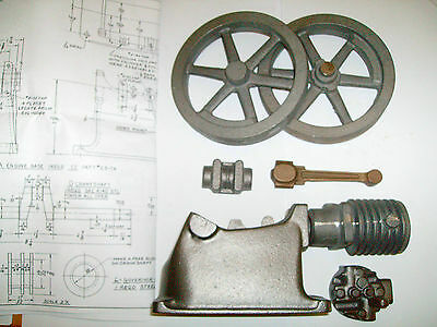 "model Associated ""Hired Man"" hit & miss engine castings & drawings AIR COOLED"