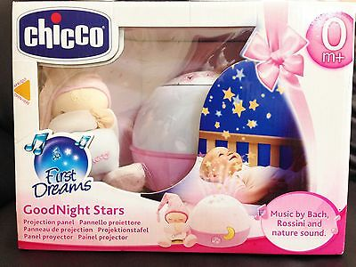 Goodnight Star projection panel from Chicco pink colour for 0m+baby