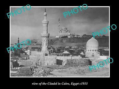 OLD LARGE HISTORIC PHOTO OF EGYPT, THE CITADEL IN CAIRO c1915