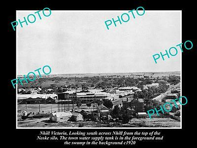 OLD LARGE HISTORICAL PHOTO OF NHILL VICTORIA, PANORAMA OF TOWNSHIP c1920 1
