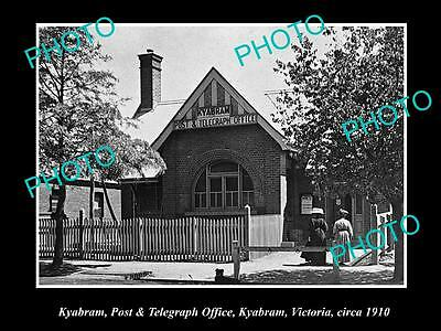 OLD LARGE HISTORIC PHOTO OF KYABRAM VICTORIA, VIEW OF THE POST OFFICE c1910