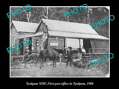 OLD LARGE HISTORIC PHOTO OF TYALGUM NSW, VIEW OF THE FIRST POST OFFICE c1908