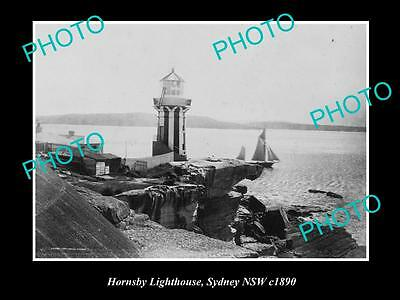 Old Large Historic Photo Of Hornsby Nsw, View Of The Old Lighthouse, Sydney 1890