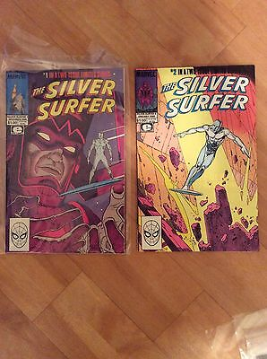 Marvel Comics Silver Surfer Limited Series Issues 1 - 2 complete  Lee & Moebius