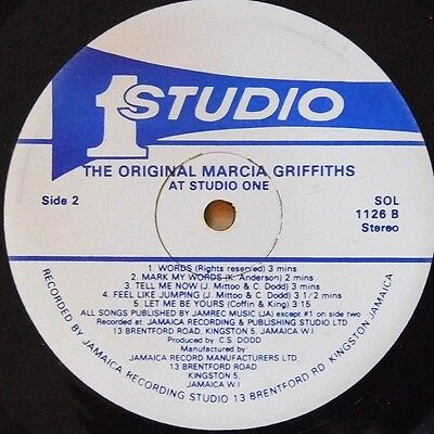 Marcia Griffiths - At Studio One (Sol1126) Lp