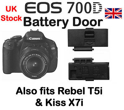 Battery Door Cover for Canon EOS 700D, T5i, &  Kiss X7i  NEW