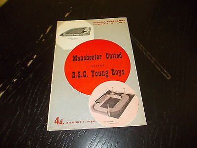 Manchester United v BSC Young Boys 1st Oct 1958 Friendly Match