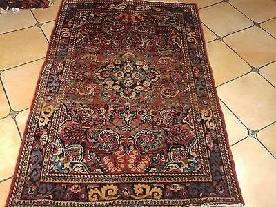 Need A Gift Idea? Vintage Hand Knotted Persian Sarouk Mahal 4.4X6.9Ft Rug K14