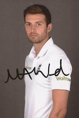 ENGLAND: MARK WOOD SIGNED 6x4 TEST PORTRAIT PHOTO+COA