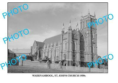 LARGE PHOTO OF OLD WARRNAMBOOL St JOHNS CHURCH 1950s